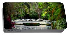 The White Bridge In Magnolia Gardens Sc Portable Battery Charger