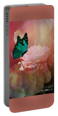 The White Rose Portable Battery Charger by Maria Urso