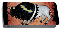 The White Sacred Buffalo Fresco Portable Battery Charger