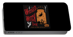 The Wicked Witch Inn Portable Battery Charger by Georgeta Blanaru