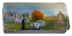 Portable Battery Charger featuring the digital art The Widow by Michael Cleere