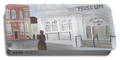 The Willis Museum Basingstoke With Jane Austen Statue Portable Battery Charger