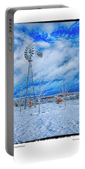 The Windmill In Winter Portable Battery Charger