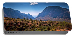 The Window In The Chisos Mountains Portable Battery Charger