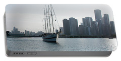 Portable Battery Charger featuring the photograph The Windy City by John Black