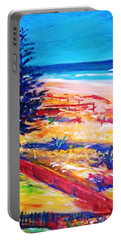 Portable Battery Charger featuring the painting The Winter Dunes by Winsome Gunning