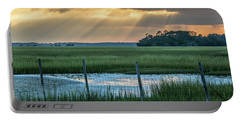 The Wire Fence -  Seabrook Island, Sc Portable Battery Charger