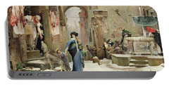 The Wolf Of Gubbio Portable Battery Charger