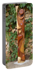 Portable Battery Charger featuring the painting The Woman Totem by Esther Newman-Cohen