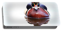 Portable Battery Charger featuring the photograph The Wood Duck Look by Lynn Hopwood