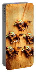 The Wooden Horse Race Portable Battery Charger