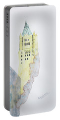 The Woolworth Building Portable Battery Charger by Keshava Shukla