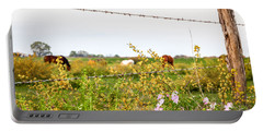 Portable Battery Charger featuring the photograph The Wrong Side Of The Fence by Melinda Ledsome
