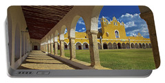 The Yellow City Of Izamal, Mexico Portable Battery Charger by Sam Antonio Photography