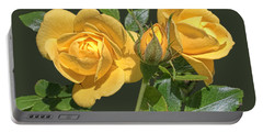 The Yellow Rose Family Portable Battery Charger by Daniel Hebard