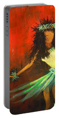 Portable Battery Charger featuring the painting The Young Dancer by Dan Whittemore