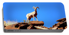 The Young Ram Reaches The Sky Line Portable Battery Charger