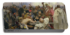 The Zaporozhye Cossacks Replying To The Sultan Portable Battery Charger
