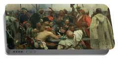 The Zaporozhye Cossacks Writing A Letter To The Turkish Sultan Portable Battery Charger