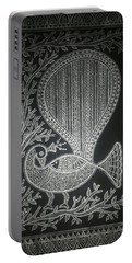 The Madhubani Peacock Portable Battery Charger