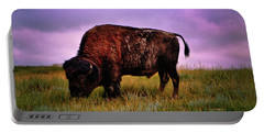 Portable Battery Charger featuring the photograph Theodore Roosevelt National Park 008 - Buffalo by George Bostian