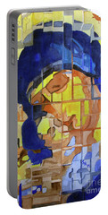 Portable Battery Charger featuring the painting Theotokos by Sandy McIntire