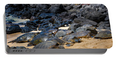 Portable Battery Charger featuring the photograph There Has Got To Be More Room On This Beach  by Jim Thompson