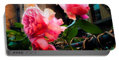 Portable Battery Charger featuring the photograph There Is A Rose In Spanish Harlem by Miriam Danar