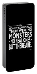 There Were No Monsters Portable Battery Charger by Mark Rogan