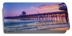 There Will Be Another One - San Clemente Pier Sunset Portable Battery Charger