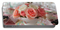 Teacup Roses Portable Battery Charger