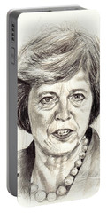 Theresa May Portrait Portable Battery Charger