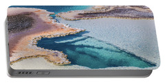 Portable Battery Charger featuring the photograph Thermal Pool At Yellowstone by Lon Dittrick