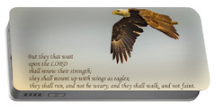 They That Wait Upon The Lord Portable Battery Charger by John Roberts