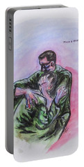 Portable Battery Charger featuring the painting They Will Never Forget by Clyde J Kell