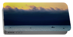 Portable Battery Charger featuring the photograph Thick Fog Blankets Sunset by Joseph Hollingsworth