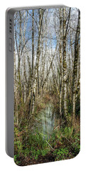 Thickets And Marsh Portable Battery Charger by Greg Nyquist