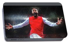 Thierry Henry Portable Battery Charger by Semih Yurdabak