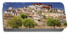 Portable Battery Charger featuring the photograph Thikse Monastery by Alexey Stiop