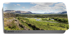 Thingvellir National Park In Iceland Portable Battery Charger