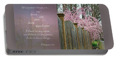 Portable Battery Charger featuring the photograph Think On The Good Things by Larry Bishop