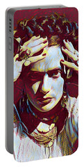 Thinking Frida Portable Battery Charger by Gary Grayson