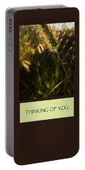 Thinking Of You Portable Battery Charger by Mary Ellen Frazee