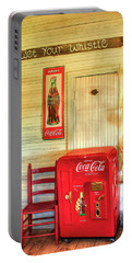 Thirst-quencher Old Coke Machine Portable Battery Charger by Reid Callaway