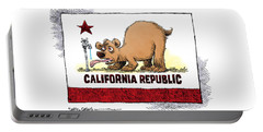 Thirsty California Flag Portable Battery Charger