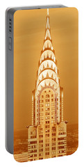 Chrysler Building At Sunset Portable Battery Charger