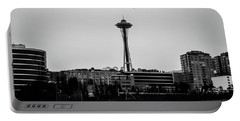 This Is Seattle Black And White Portable Battery Charger