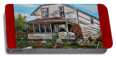 Portable Battery Charger featuring the painting This Old House 2 by Marilyn  McNish
