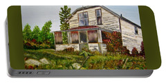 Portable Battery Charger featuring the painting This Old House by Marilyn  McNish