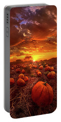 This Our Town Of Halloween Portable Battery Charger by Phil Koch